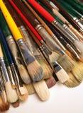 Het assortiment van het penseel stock afbeeldingen