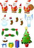 Het Assortiment van Kerstmis royalty-vrije illustratie