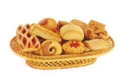 Het assortiment van koekjes Stock Fotografie