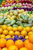 Het assortiment van vruchten Stock Foto's
