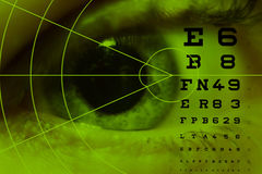 Het astigmatisme van de bijziendheid stock afbeeldingen