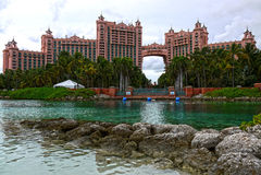 Het Atlantis-hotel, Nassau bahamas Stock Foto