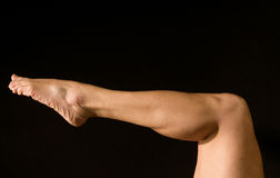 Het atletische been van de vrouw Royalty-vrije Stock Foto