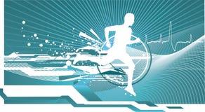Het atletische mens lopen Royalty-vrije Stock Afbeeldingen