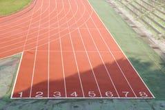 Het atletische spoor stock afbeelding