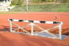 Het atletische spoor stock foto