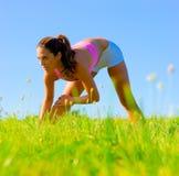 Het atletische Uitoefenen van de Vrouw Stock Foto's