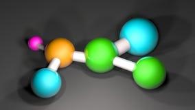 Het atoom moleculaire DNA-structuur 3d teruggeven Stock Afbeelding