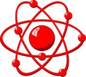 Het atoom van de molecule Stock Afbeelding