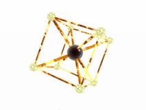 Het atoom van het ijzer. vector illustratie