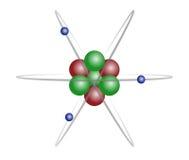 Het atoom van het lithium Stock Foto