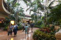 Het Atrium van het luchtspiegelinghotel in Las Vegas, NV op 26 Juni, 2013 Royalty-vrije Stock Fotografie