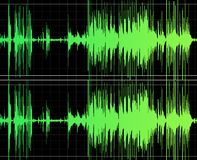 Het audio Uitgeven Royalty-vrije Stock Foto's