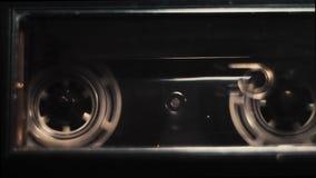 Het audiocassetteband Spelen stock footage
