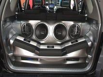 Het audiosysteem van de auto Stock Foto