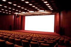 Het auditorium van de bioskoop stock afbeeldingen