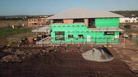 Het Australische bouwterrein van de isolatieraad voor nieuw huizenontwerp stock footage