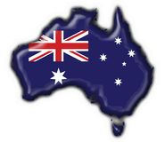 Het Australische hart van de knoopkaart Stock Foto's