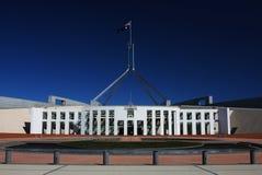 Het Australische Huis van het Parlement in Canberra stock afbeeldingen