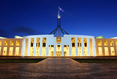Het Australische Huis van het Parlement in Canberra stock foto