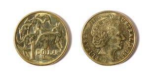 Het Australische Muntstuk van de Dollar Stock Fotografie