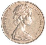 Het Australische Muntstuk van de Dollar Stock Afbeeldingen