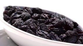 Het Australische sultanarozijn-gedroogd fruit van druivenrozijnen, het alternatief van de gezonde voedingsnack, het omcirkelen stock footage