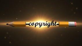 Het auteurs` s werk Alle voorgebe*houde rechten auteursrecht 36 vector illustratie