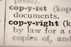 Het auteursrecht van Word royalty-vrije stock fotografie