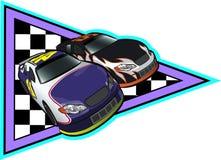 Het Auto Rennen van Nascar Stock Afbeelding