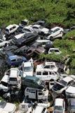 Het autokerkhof van auto's Stock Foto's