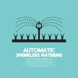 Het automatische Sproeiers Water geven Royalty-vrije Stock Foto