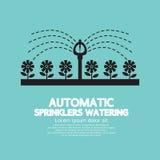 Het automatische Sproeiers Water geven Royalty-vrije Stock Foto's