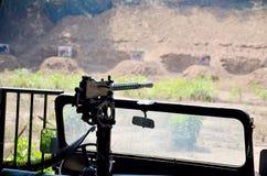 Het Automatische Wapen van de machinegeweerploeg Stock Afbeelding