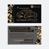 Het automobielmalplaatje van het de Dienstadreskaartje Autodiagnostiek en vervoerreparatie Creeer uw eigen adreskaartjes Stock Foto's
