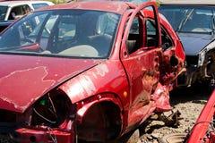 Het autoongeval waar de schade reusachtig was Royalty-vrije Stock Afbeelding