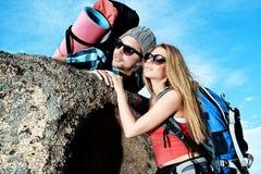 Het avontuur van de berg Stock Foto
