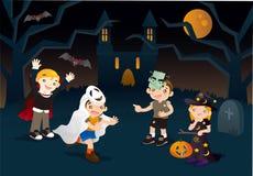 Het avontuur van Halloween Stock Foto's