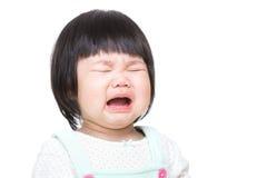Het Aziatische babymeisje schreeuwen royalty-vrije stock fotografie
