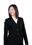 Het Aziatische bedrijfsvrouw glimlachen Stock Foto