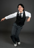 Het Aziatische Dansen van de Jazz van de Mens stock foto's