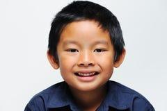 Het Aziatische jongen glimlachen Royalty-vrije Stock Foto