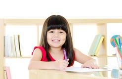 Het Aziatische Kinderen Trekken Stock Afbeelding