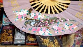 Het Aziatische kunst schilderen op muberry document royalty-vrije stock afbeeldingen