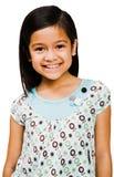 Het Aziatische meisje glimlachen Stock Foto's