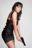 Het Aziatische Meisje van het Kanon Royalty-vrije Stock Foto's