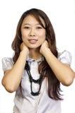 Het Aziatische Model Stellen Stock Foto