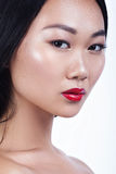 Het Aziatische modelportret van de schoonheidsglamour Mooie Jonge Vrouw royalty-vrije stock fotografie