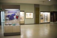 Het Aziatische Museum van Chinees, van Peking, van vrouwen en van kinderen, Binnententoonstellingszaal Stock Afbeelding