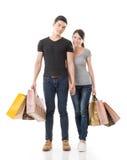 Het Aziatische paar winkelen Stock Fotografie